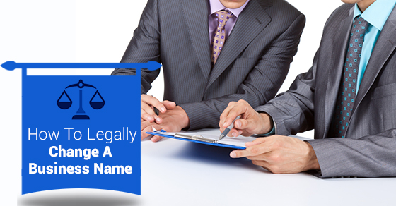 Change A Business Name