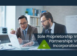 Sole Proprietorship Vs Partnerships Vs Incorporation