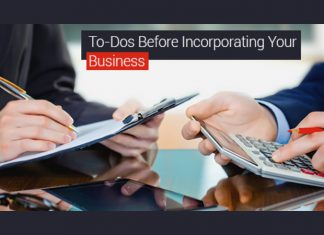 To Dos Before Incorporating Your Business