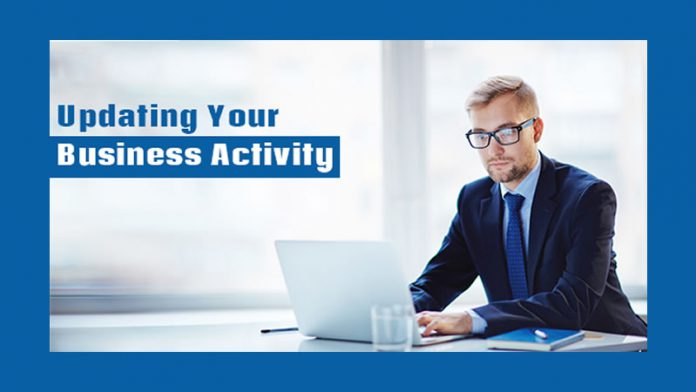 Updating Your Business Activity