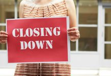 closing down business sign