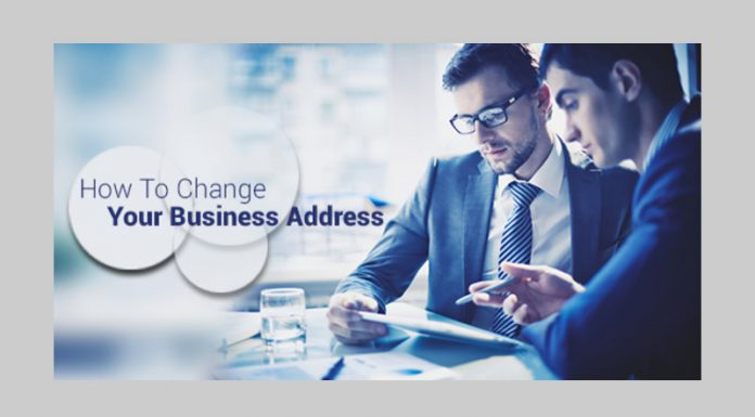how to change your business address