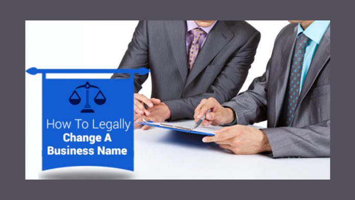 Legally Change A Business Name