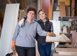 small business owners in shop