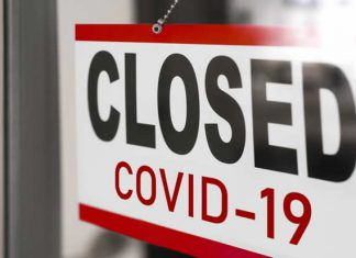 closed business covid sign